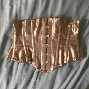 Bronze Steel Boned Corset